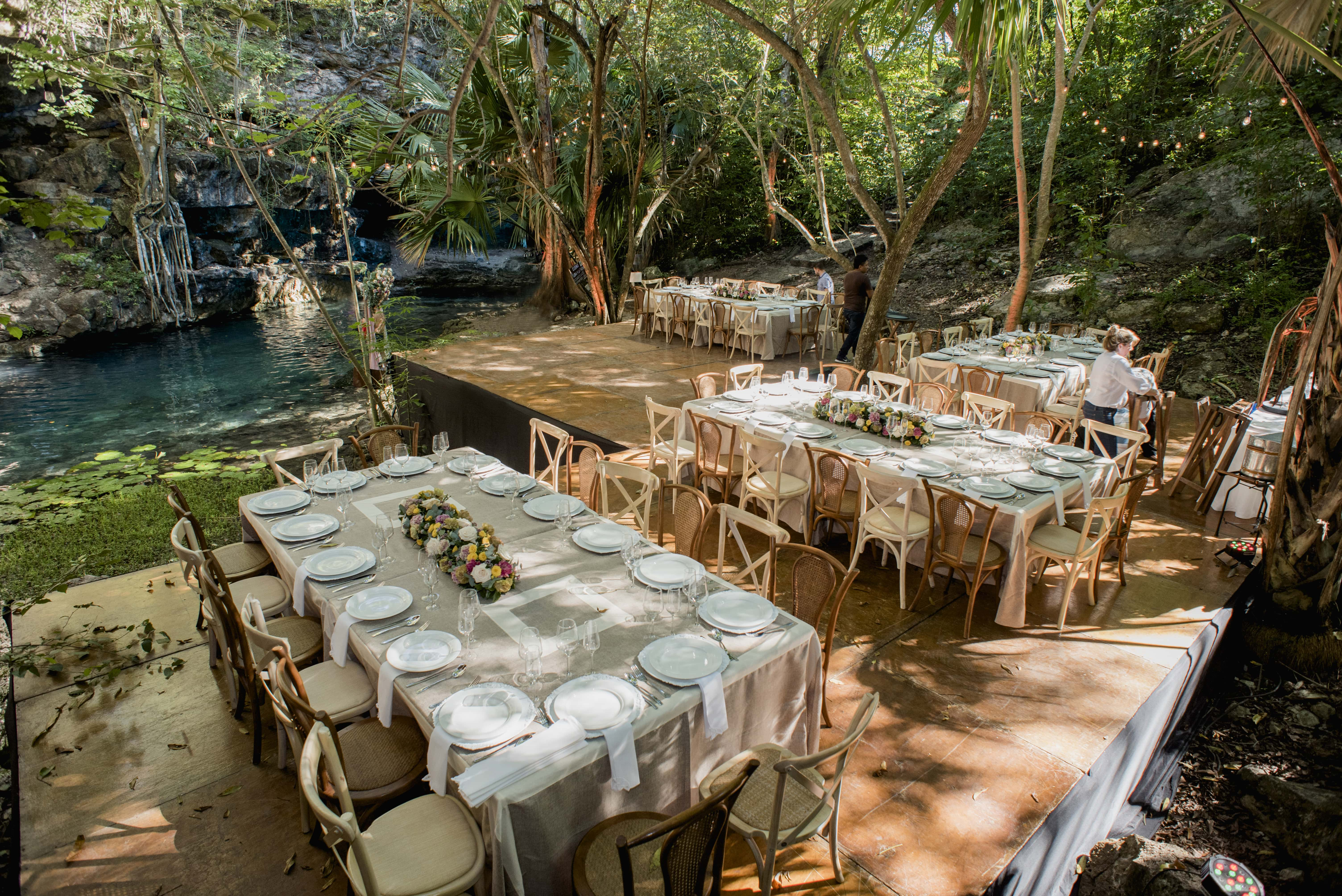 wedding in cenote