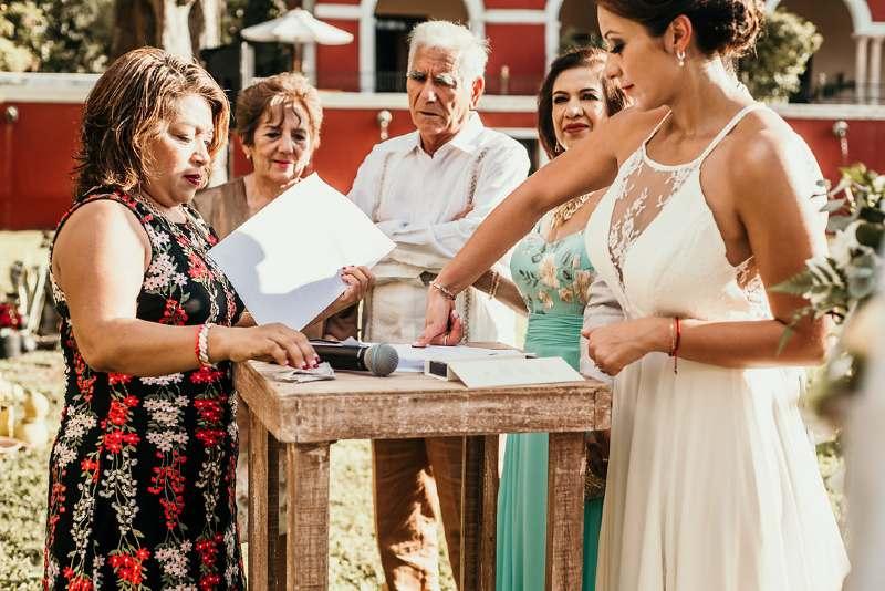 wedding in hacienda yucatan