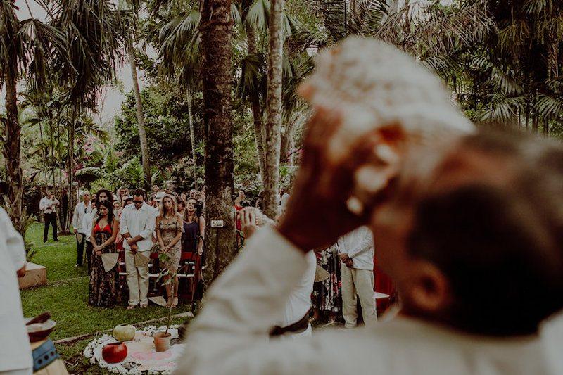 Guests at Mayan Wedding