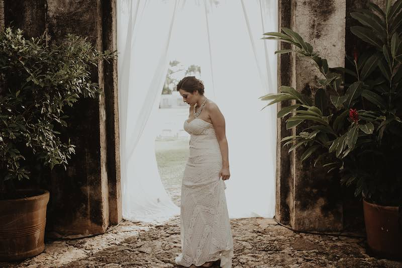 Bride at Destination Wedding in Hacienda Sac Chic