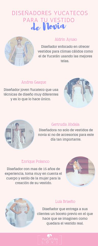 Diseñadores yucatecos de vestidos de novia
