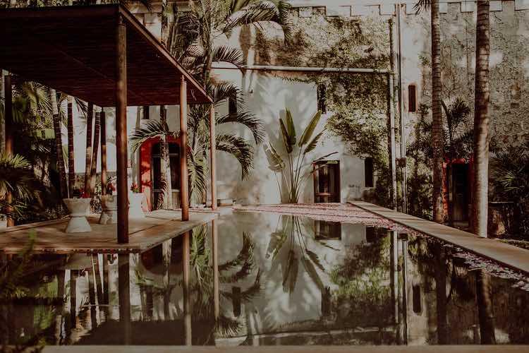 Pool at sac chich yucatan Wedding