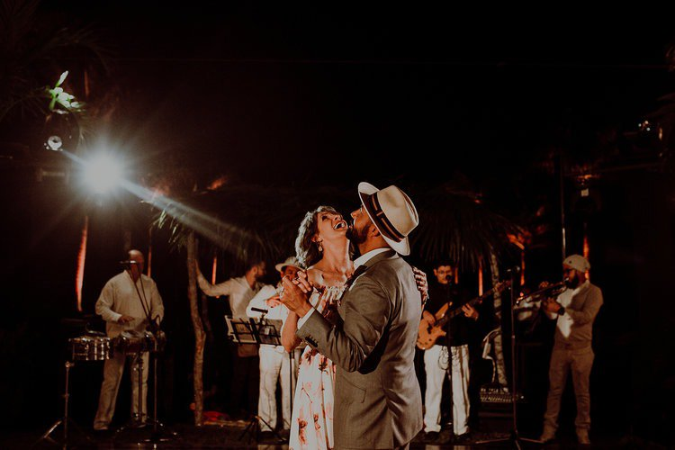 Groom dancing at Hacienda Sac Chich