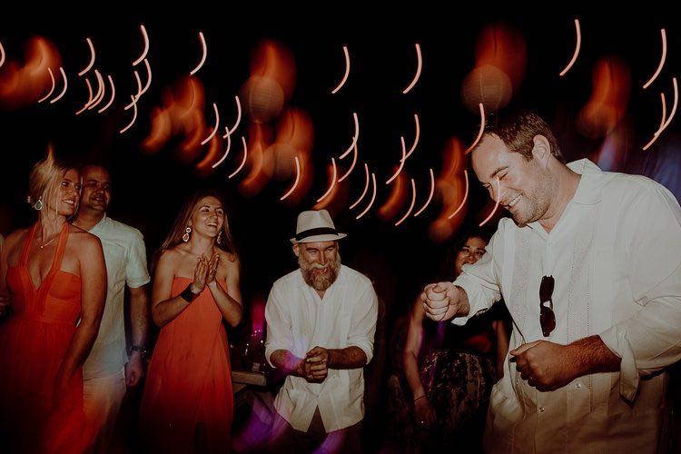 Dancing at destination wedding in hacienda sac chich wedding