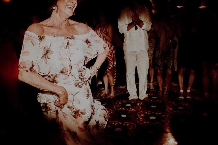 Guests dancing in Destination Wedding