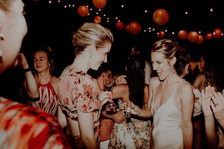 Happy Bride in hacienda sac chich weddding