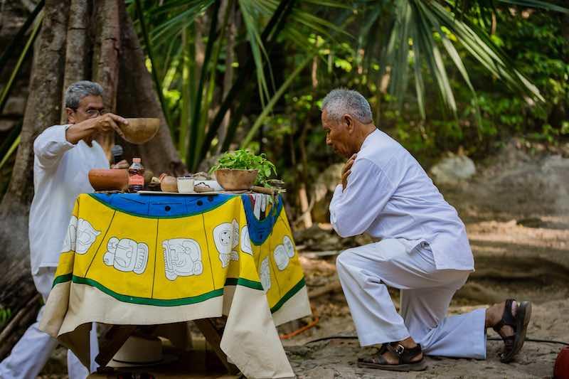 Mayan Priest at Destination Wedding