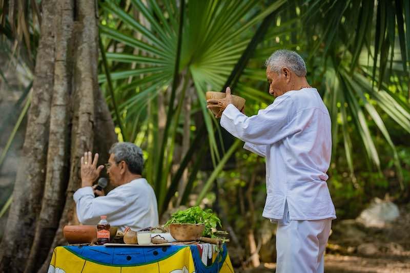 Sacred Ritual at Yucatan Wedding