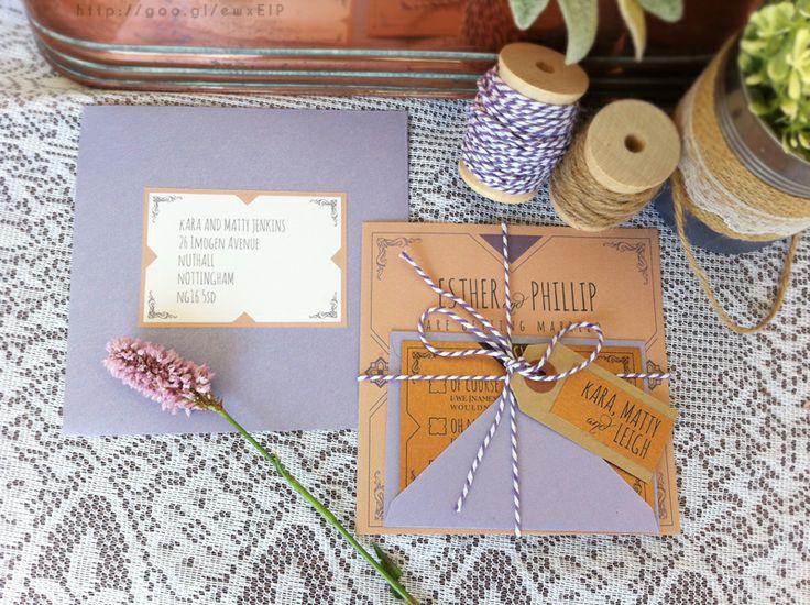 inspiración de bodas Violet Tulip