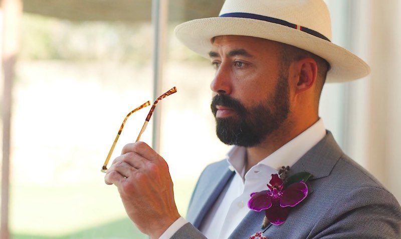 Groom boutonniere at Destination Wedding