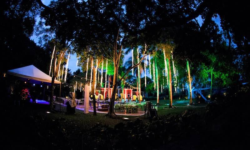 luces hacienda boda