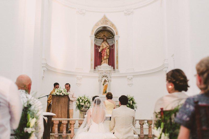 Ceremony at Destination Wedding in Yucatan