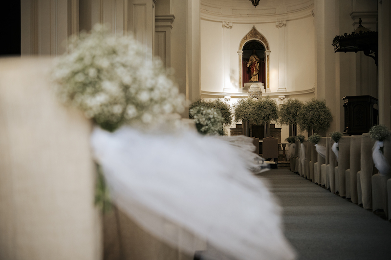 aisle with flowers