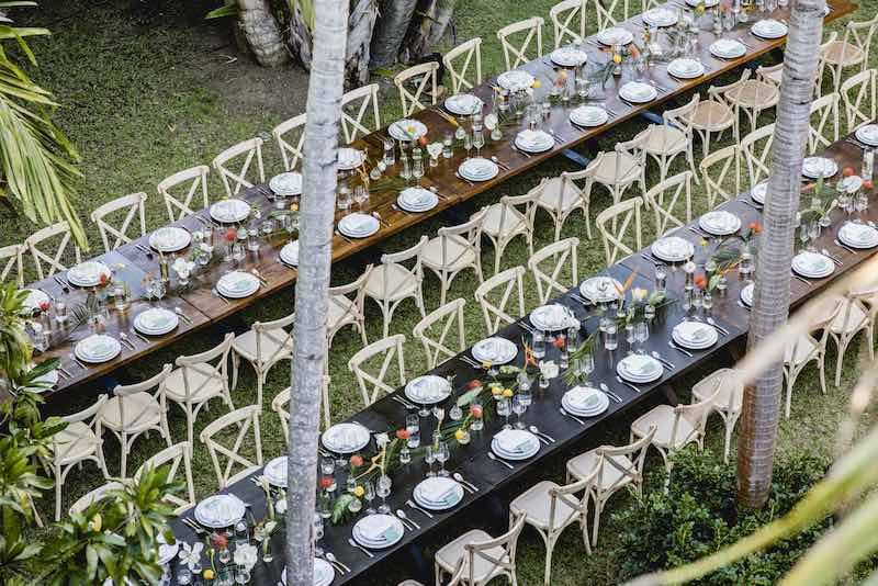 banquete para boda