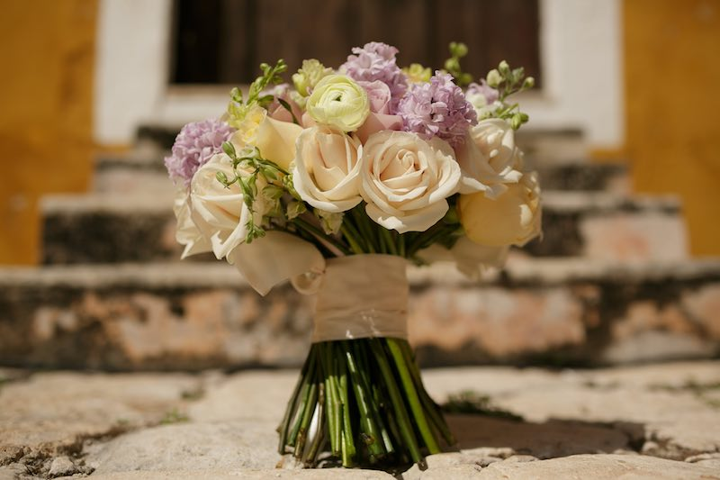 elegant and cute bouquet at hacienda destination wedding