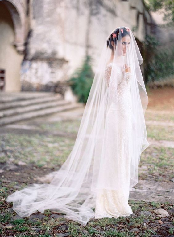 cathedral bridal veil