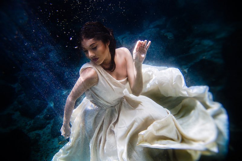 cenote trash the dress