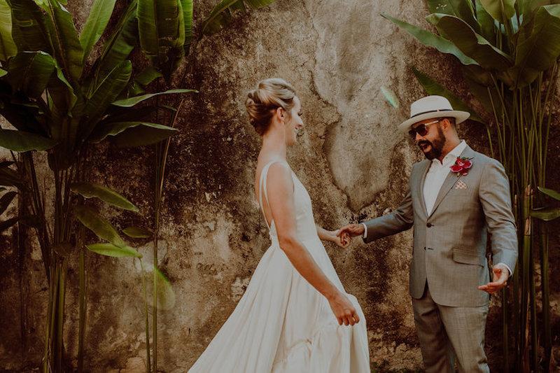 first look wedding hacienda sac chich yucatan
