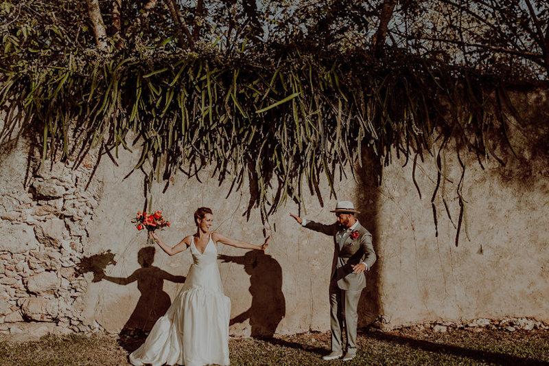 funny moments first look wedding hacienda sac chich yucatan