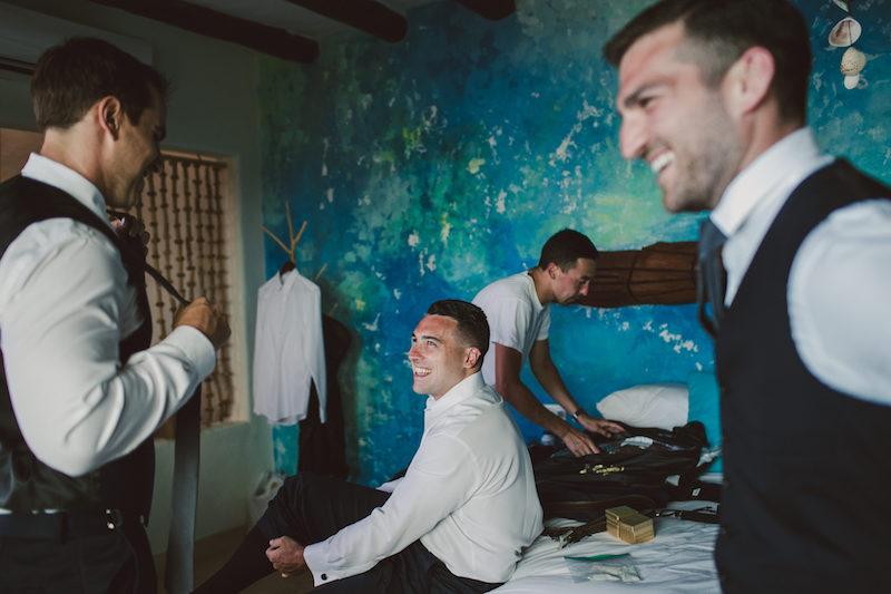 getting rady groom