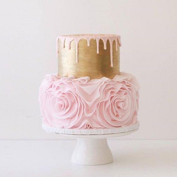 Cute cake in Rose Gold Wedding