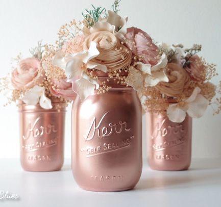 Floral Rose Gold Wedding Gift