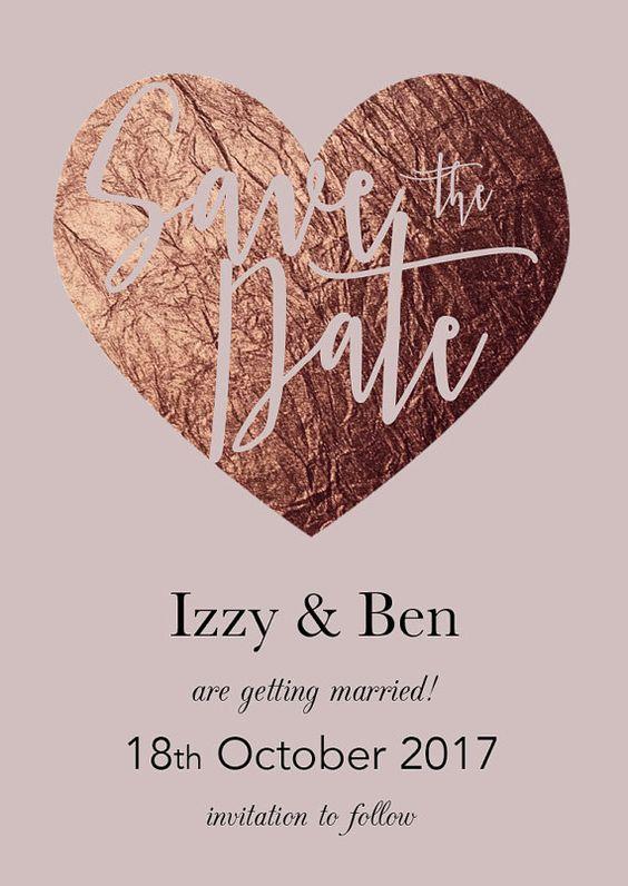 Invitation Rose Gold Wedding