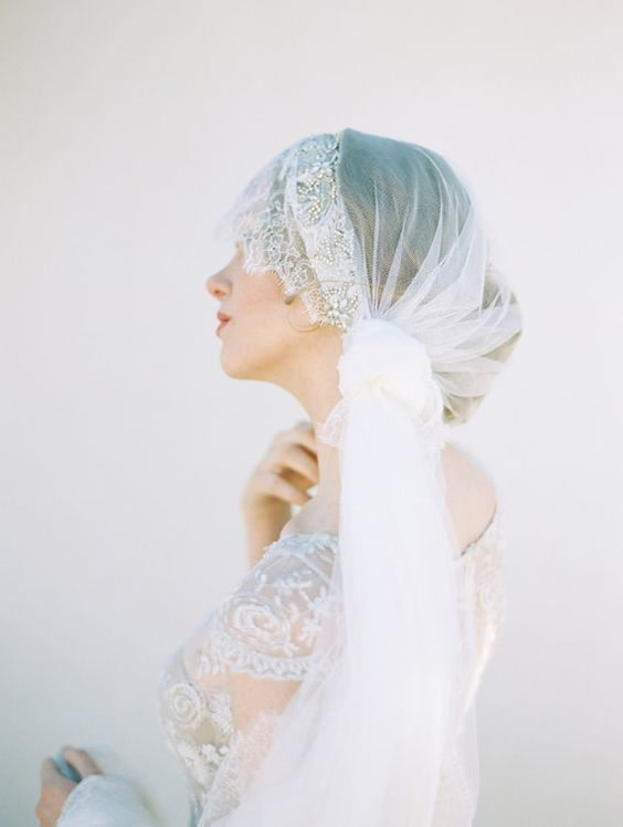 pirate style bridal veil