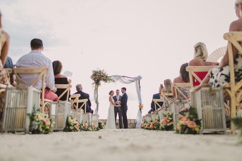 playa boda clima