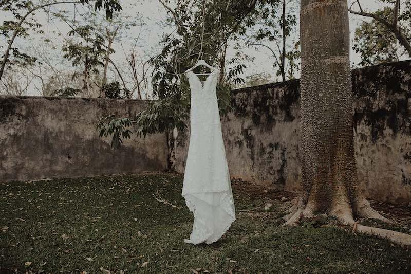 Bridal dress in hacienda sac chich