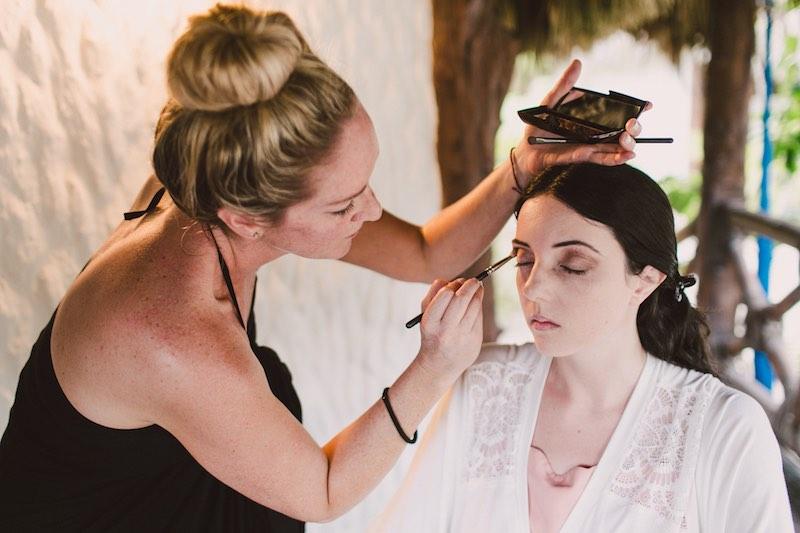 wedding beach makeup