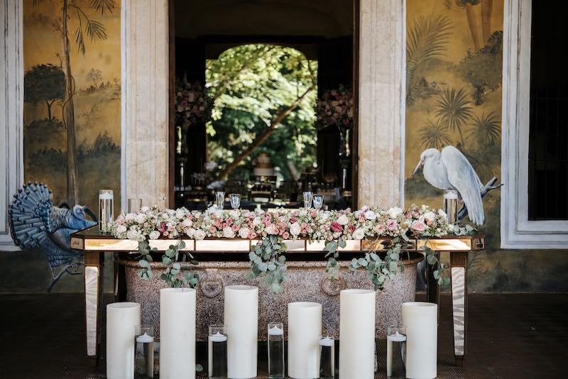 wedding couple table