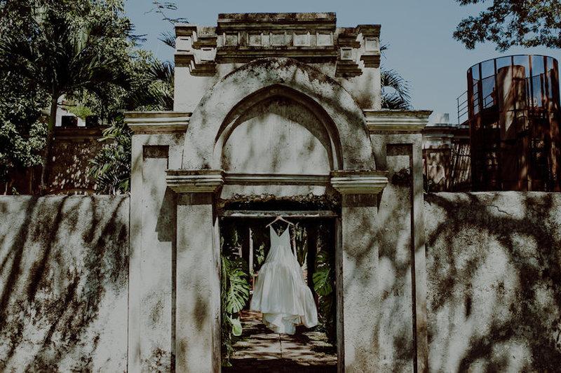 wedding dress hacienda sac chich yucatan