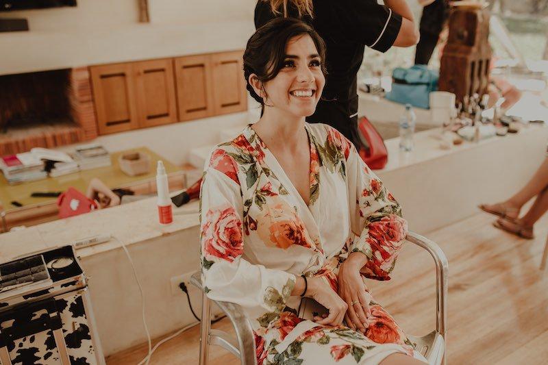 happy bride during her wedding in yucatan