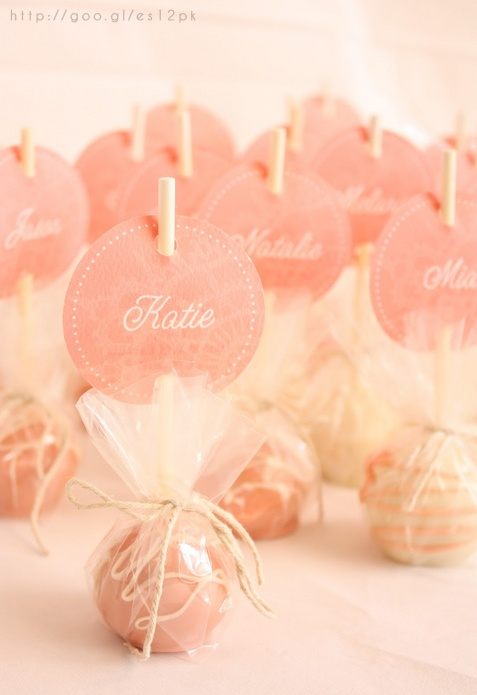 Rose Gold Wedding Popsicles