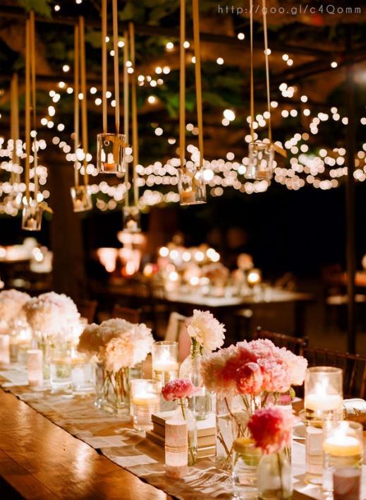 elegant rose gold wedding table