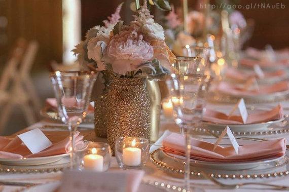 Rose Gold Wedding centerpiece