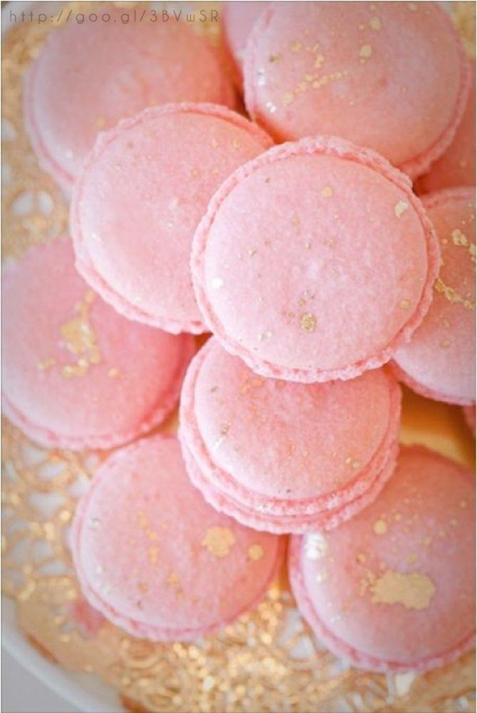 Rose gold wedding Macarons