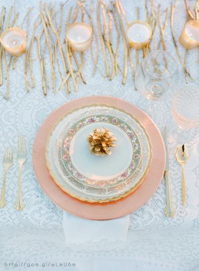 Wedding Table at Rose Gold wedding