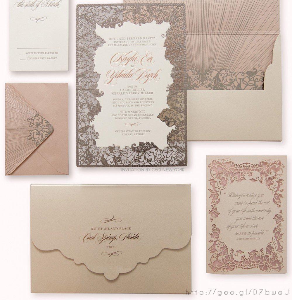 Wedding Invitacion Boda Rosa Gold