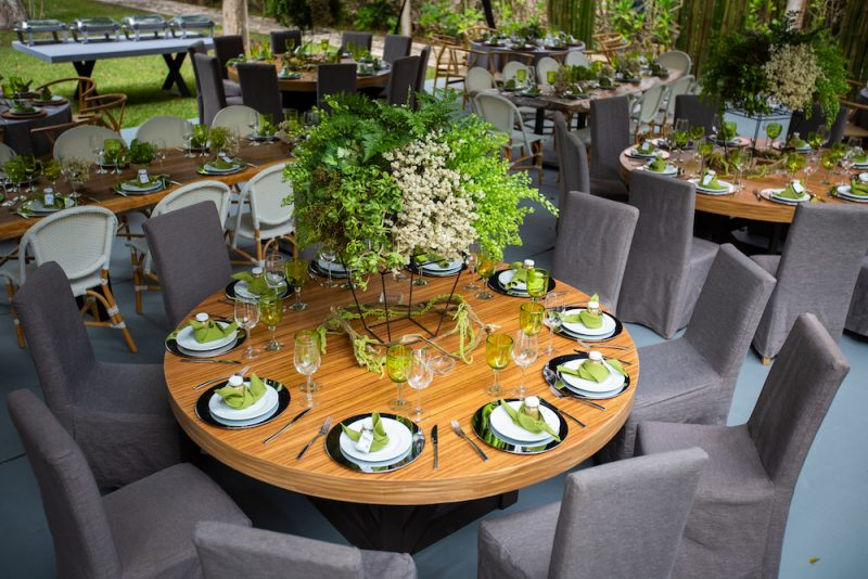modern wedding table decoration