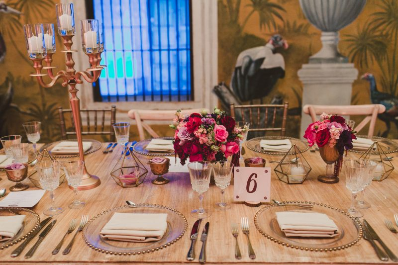 vintage wedding table rentals