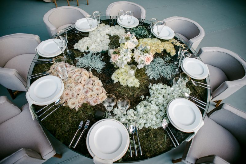 luxury wedding table and chair