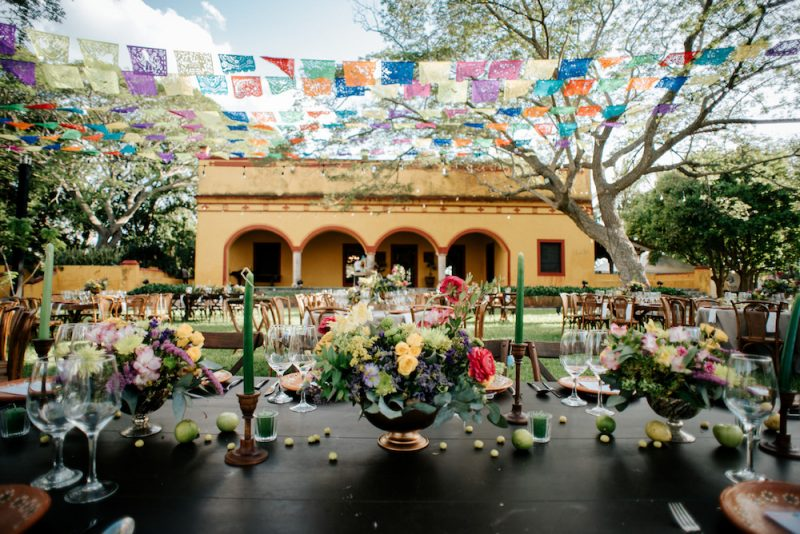 table and chair rentals for a mexican wedding