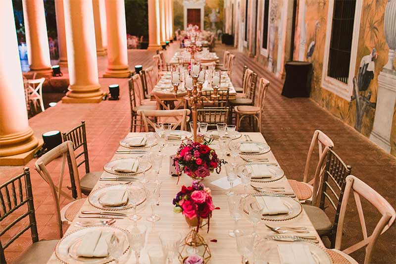 Table and chair wedding style