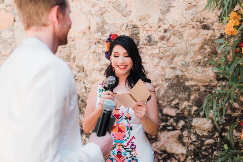 Letter Ceremony wedding hacienda yucatan