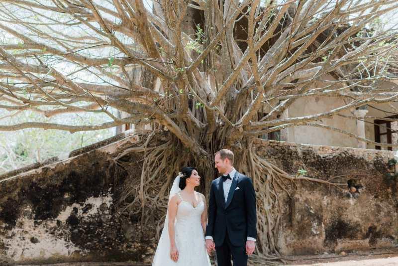 tree Ceremony wedding hacienda yucatan