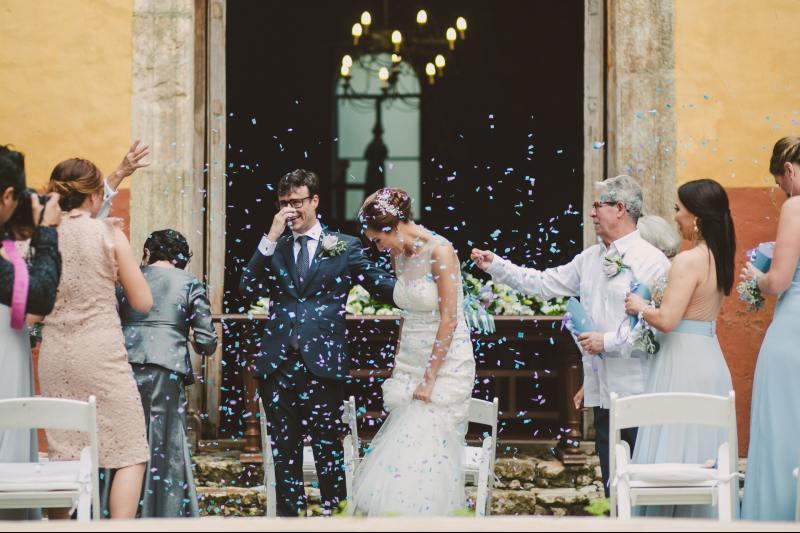 Petals ceremony wedding church