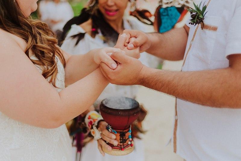 Celtic Ceremony heandfasting wedding beach