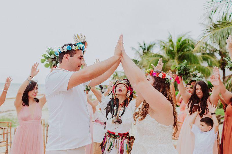 Mayan wedding beach yucatan